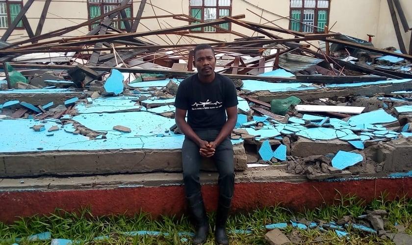 Centro de apoio da Missão Mãos Estendidas em Beira, Moçambique, foi completamente destruído. (Foto: MME/Guiame)