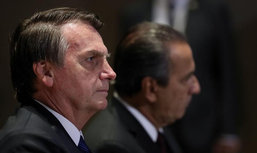 Presidente Jair Bolsonaro ao lado do pastor Silas Malafaia durante almoço com líderes evangélicos. (Foto: Marcos Corrêa/PR)