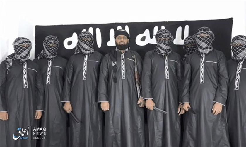 Estado Islâmico assumiu autoria dos ataques no Sri Lanka. (Imagem: Amaq News / Reprodução)