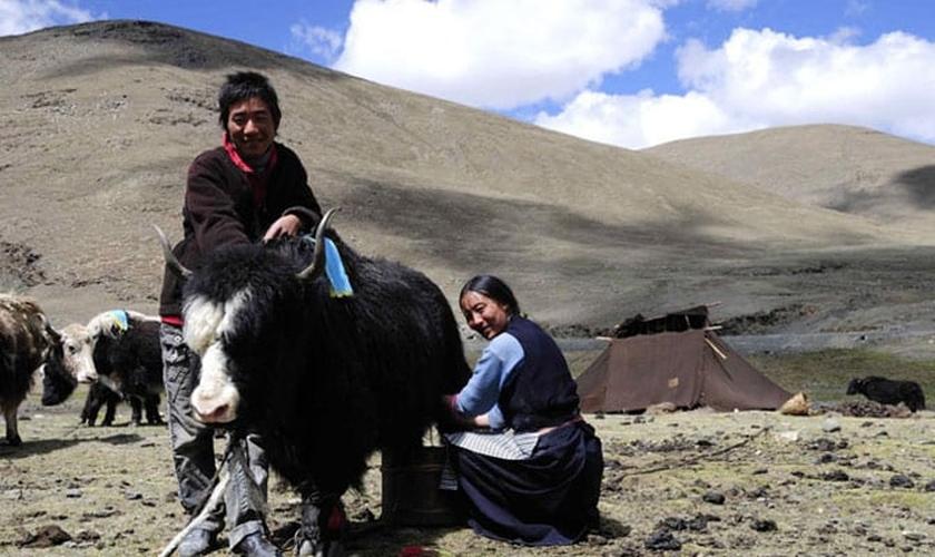 Imagem ilustrativa. Missionários contam que anjos os livraram de ataque no Tibete. (Foto: Reprodução)
