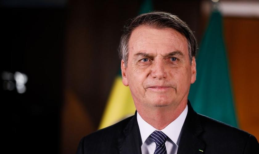 Presidente da República, Jair Bolsonaro, em pronunciamento. (Foto: Isac Nóbrega/PR)