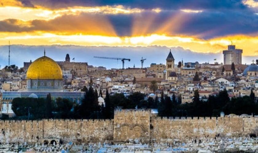 Por do Sol em Jerusalém. (Foto: Shutterstock)
