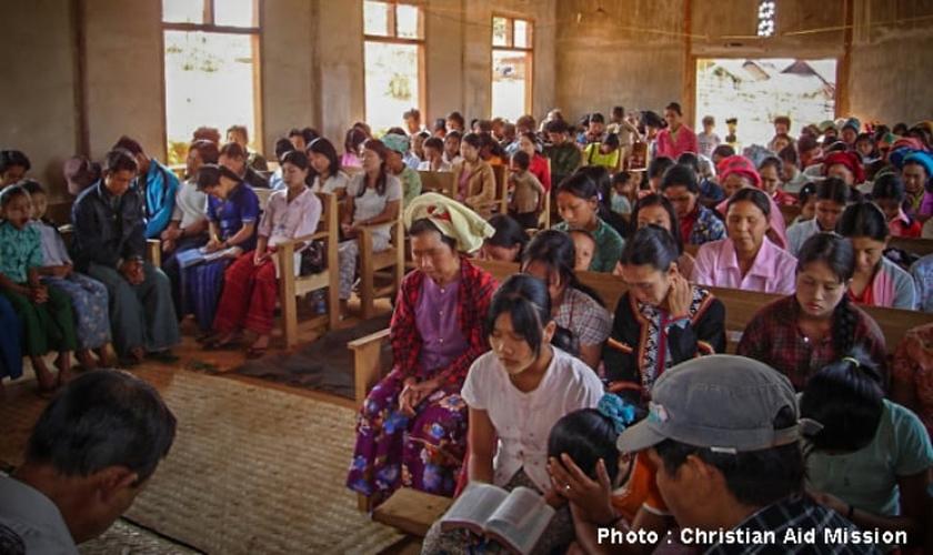 Igreja em Mianmar. (Foto: Christian Aid Mission)