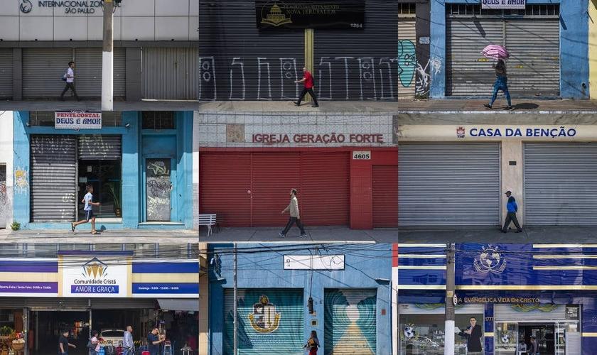 Igrejas evangélicas na região central de São Paulo. (Foto: Danilo Verpa/Folhapress)