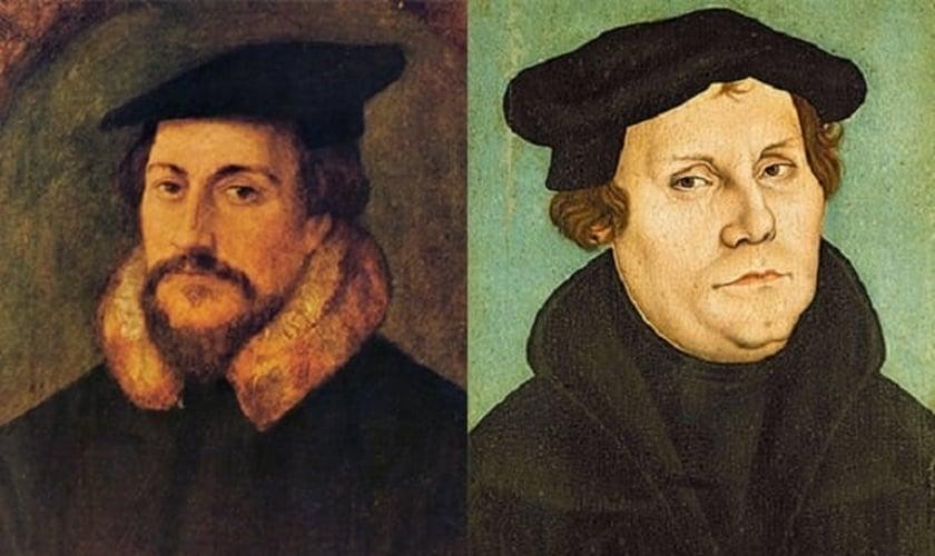 João Calvino e Martinho Lutero. (Foto: Domínio público)