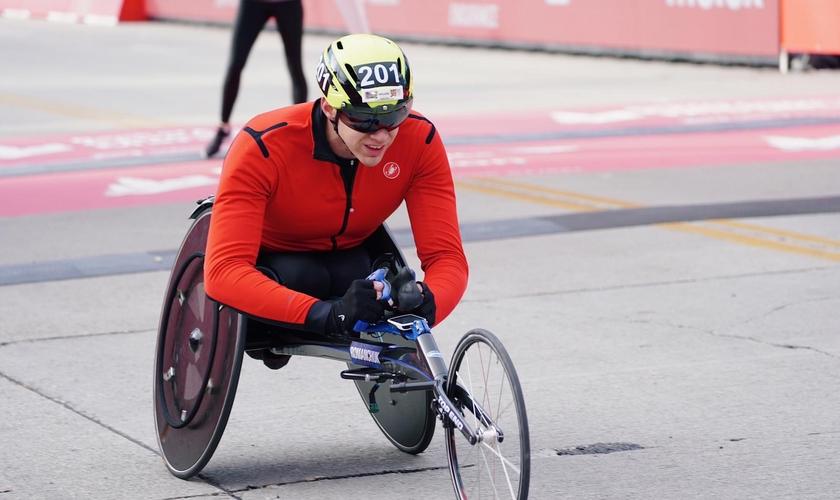 Daniel Romanchuk é recordista mundial na corrida de cadeira de rodas. (Foto: Daniel Romanchuk/Facebook)