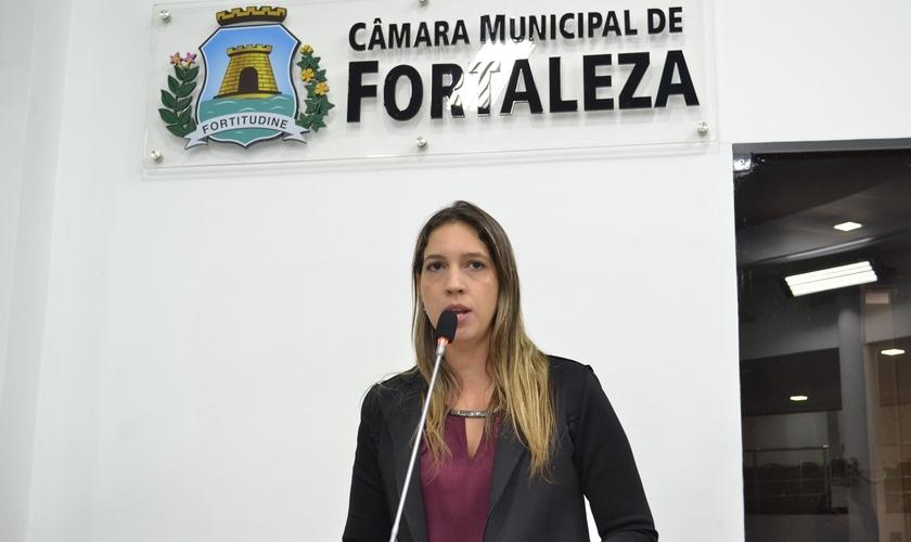 Larissa Gaspar é vereadora pelo PT em Fortaleza. (Foto: Câmara Municipal de Fortaleza)