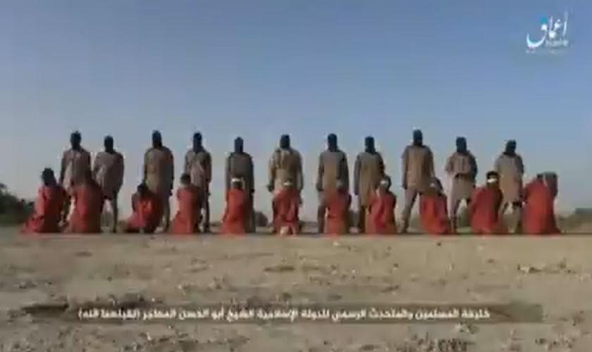 Onze homens cristãos nigerianos foram decapitados no Natal por jihadistas do Estado Islâmico. (Foto: Handout)