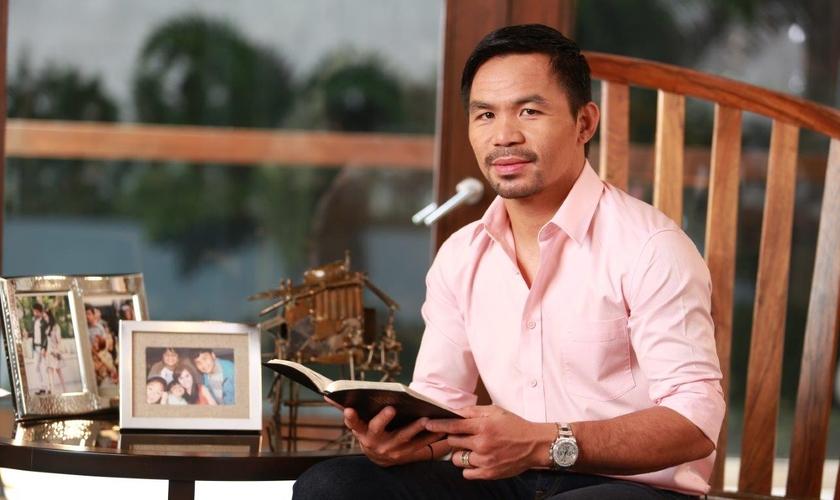 Manny Pacquiao destacou a importância de espalhar a mensagem da Bíblia por todo o mundo. (Foto: Shobizz Portal)