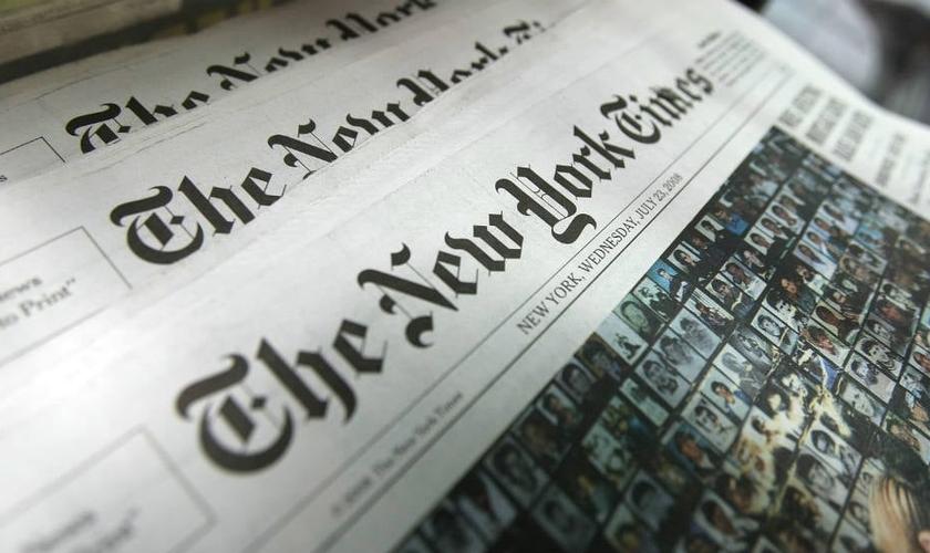 The New York Times é um dos jornais mais conhecidos dos EUA e publicou um artigo acusando evangélicos de serem os culpados pela pandemia do coronavírus. (Foto: Wikimedia Commons.)