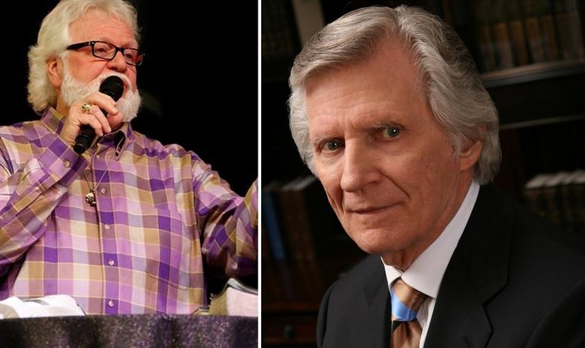 Chuck Pierce (esquerda) e David Wilkerson (direita) compartilharam visões sobre pragas que provocariam crises mundiais e recaíriam sobre o mundo no tempo da Páscoa. (Imagem: Guiame - Edição)