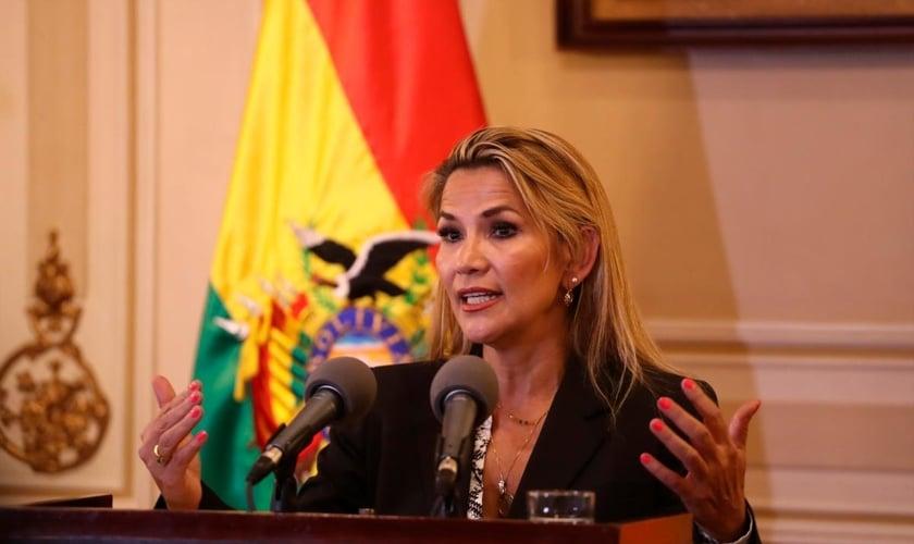 Após renúncia de Evo Morales, Jeanine Añez tornou-se presidente interina da Bolívia. (Foto: EFE/ Rodrigo Sura)