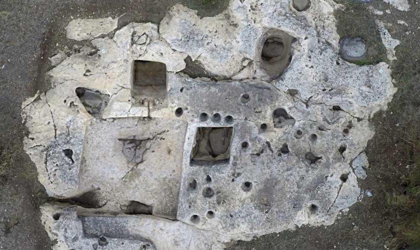 Imagem aérea da vinícola de Jezreel após escavação em 2013. (Foto: Jezreel Expedition)