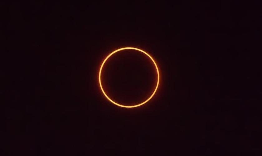 Eclipse solar anular registrado em 26 de dezembro de 2019, na Malásia. (Foto: Getty Images/iStockphoto)
