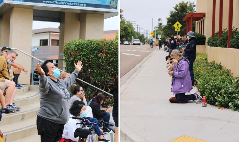 """O movimento """"We Pray San Diego"""" teve a participação de 135 igrejas e 16.000 pessoas.  (Foto: Rock Church)"""