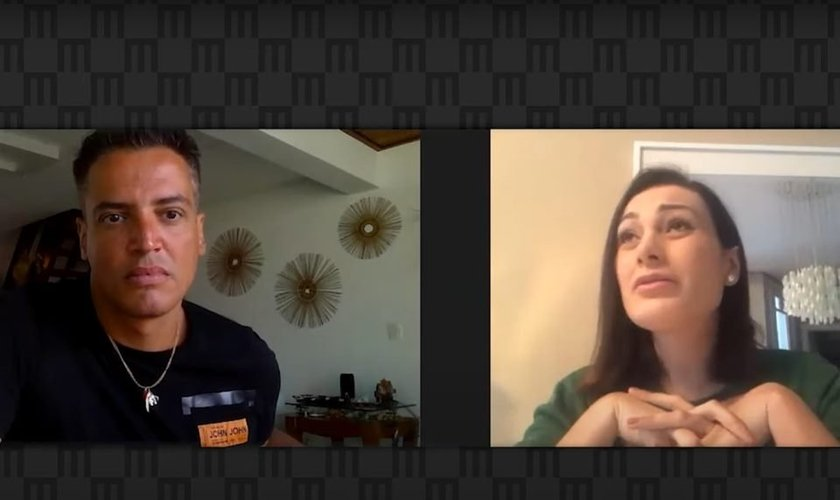 O jornalista Léo Dias entrevistou Andressa Urach. (Imagem: Metrópole / Reprodução)