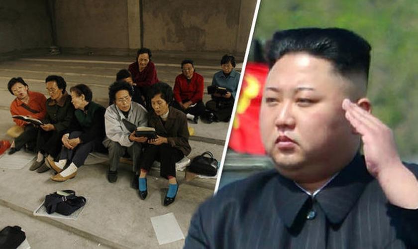 A igreja subterrânea / clandestina conta com mais de 300 mil fiéis na Coreia do Norte e agora sofre também com a fome. (Imagem: Daily Express)