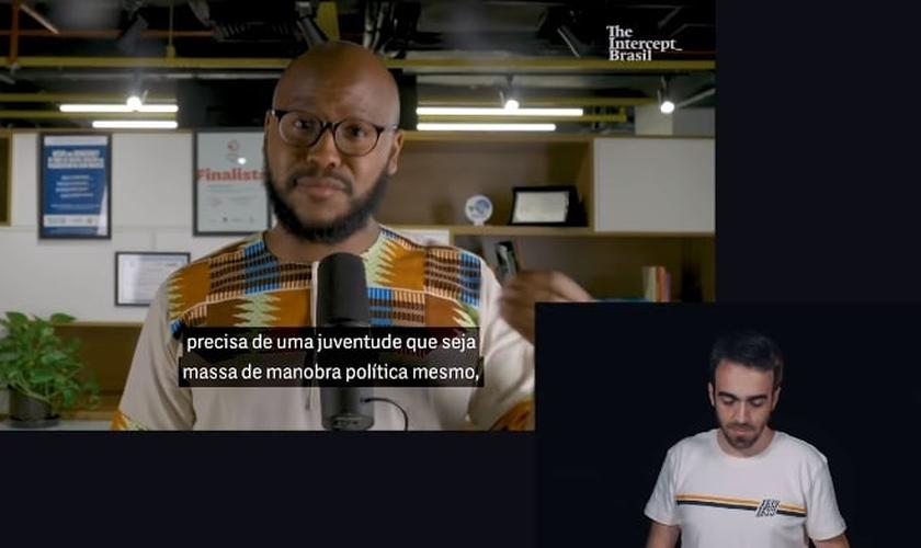 Vídeo publicado pelo Intercept Brasil teve resposta de Henrique Krigner, membro da liderança do The Send Brasil. (Imagem: Youtube / Reprodução)