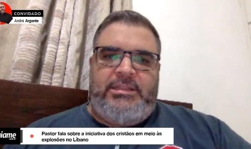 Pastor André Argente mora no Líbano há três anos, onde atua como voluntário em uma ONG e também em parceria com igrejas locais. (Imagem: Guiame / Youtube / Reprodução)