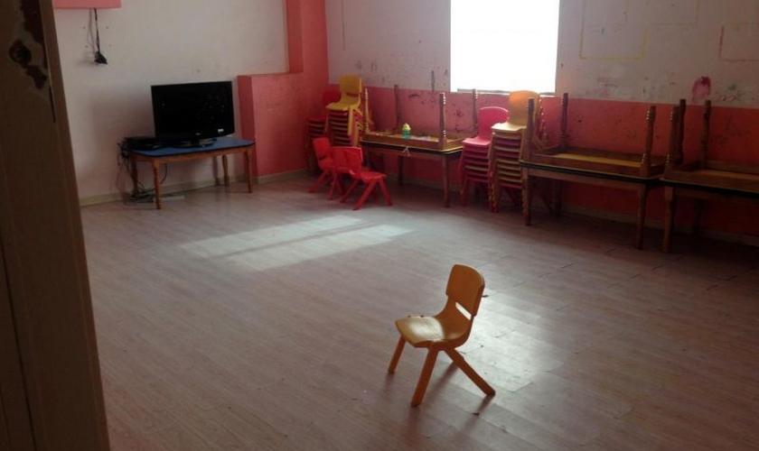 Sala de escola bíblica de igreja doméstica na província de Zhejiang, China. (Foto: Reuters)