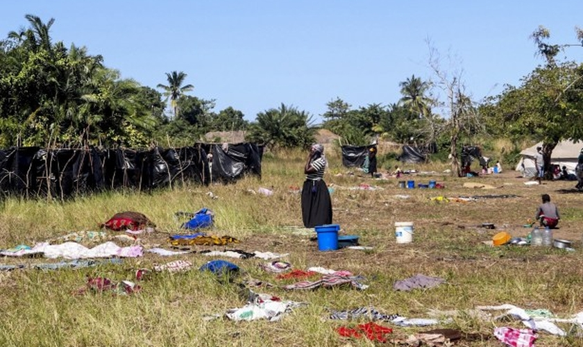 Moradora da aldeia de Metuge, na província de Cabo Delgado, no norte de Moçambique. (Foto: MSF)