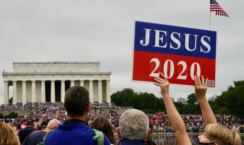 Marcha de Oração organizada por Franklin Graham em Washington, DC, em setembro de 2020. (Terry Crider/Free Lance-Star)