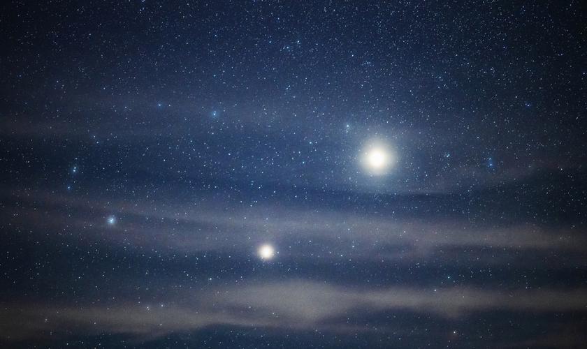 Fenômeno marcado pelo alinhamento de Júpiter e Saturno é chamado de Estrela de Natal. (Foto: Haitong Yu/Getty Images)