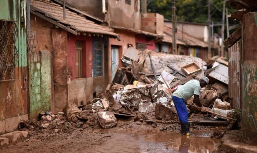 Fortes chuvas causaram mortes e destruição em MG no ano passado. (Foto: AFP)