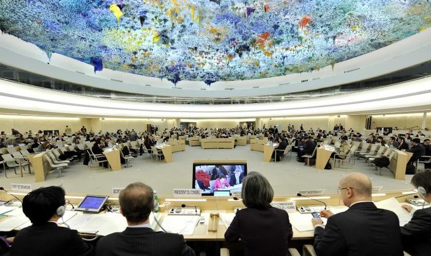 Reunião do Conselho de Direitos Humanos em Genebra, na Suíça. (Foto: ONU/Jean-Marc Ferré)