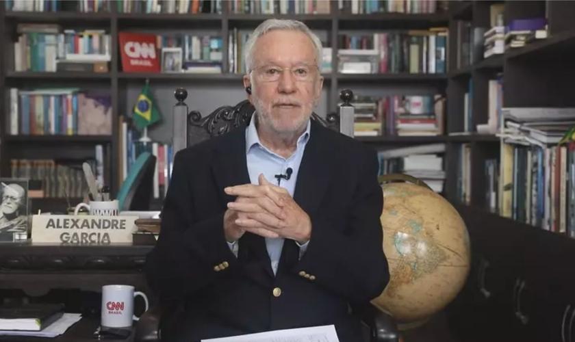 Alexandre Garcia no quadro Liberdade de Opinião. (Foto: CNN Brasil)