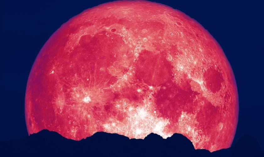 A lua cheia de junho costuma ser chamada de Lua de Morango. (Foto: NBC News)