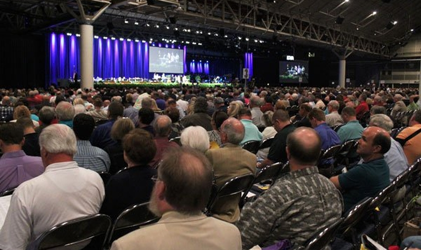 Pastores durante a Convenção Batista do Sul, nos Estados Unidos.