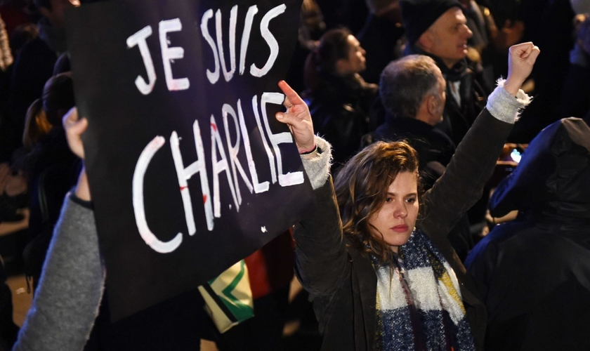 Charlie Hebdo _ protesto