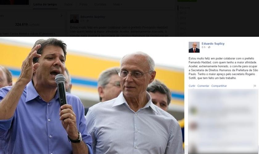 Eduardo Suplicy será novo secretário de Haddad em São Paulo
