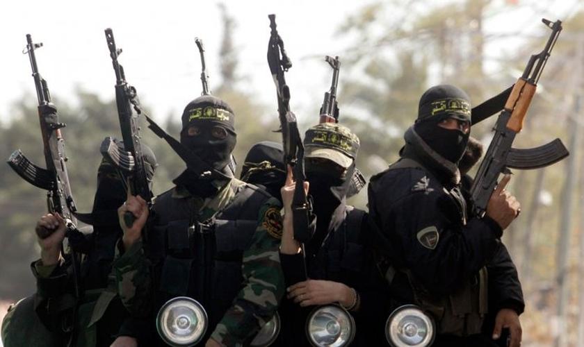 Jihadistas do grupo terrorista Estado Islâmico