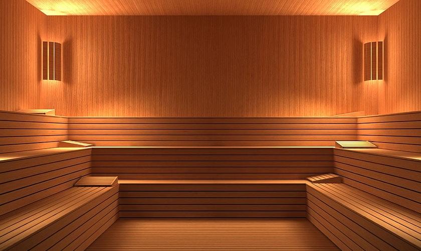 homem na sauna