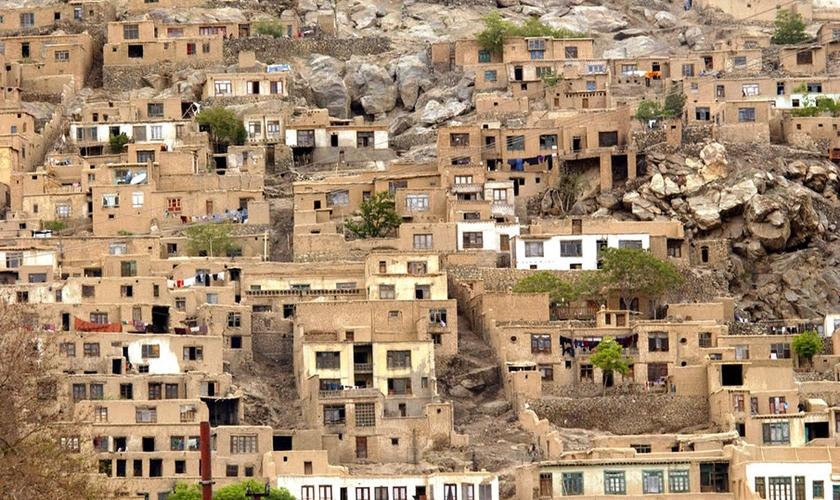 Imagem de área no Afeganistão