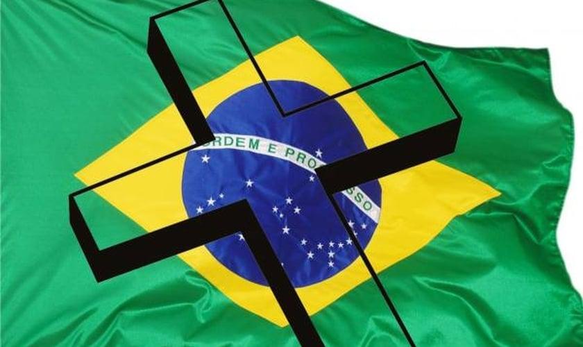 Bandeira do Brasil + Cruz