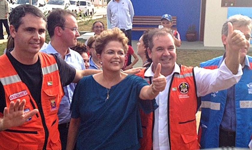 Presidente Dilma durante cerimônia no Acre