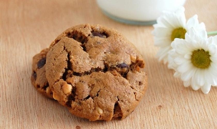 Cookie de chocolate e amendoim