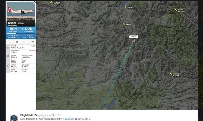 Avião com 148 pessoas cai na França
