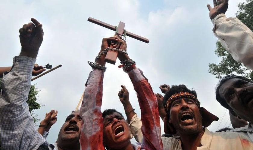 Cristãos perseguidos no Oriente Médio. (Foto: AFP/ Arif Ali)