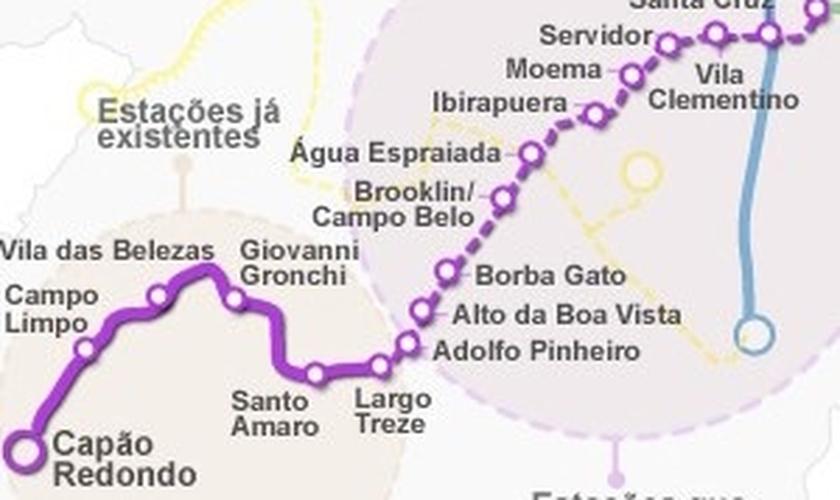 Governador Geraldo Alckmin sobre linhas de metrô