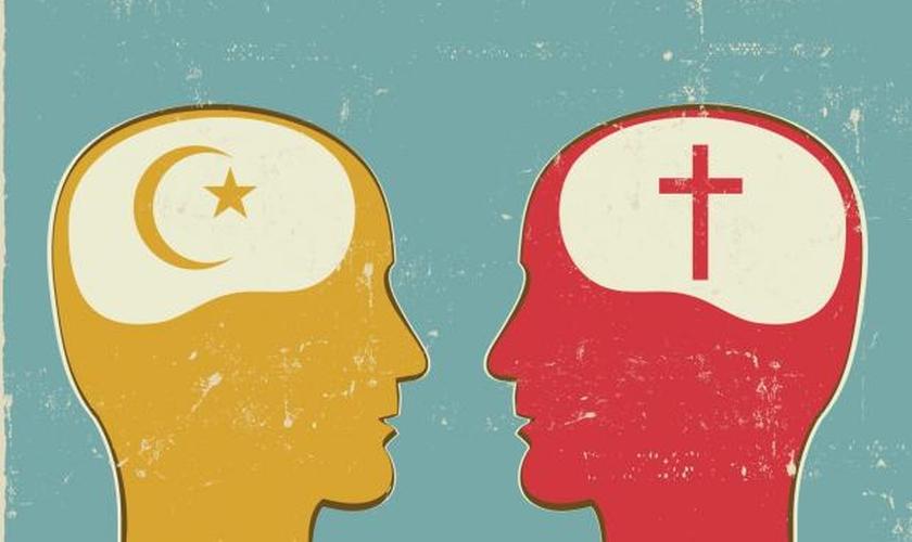 Imagem Ilustrativa: Islamismo versus Cristianismo. (informationng)