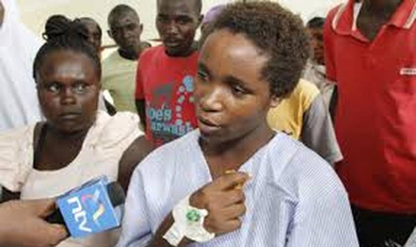 Jovem cristã Cynthia Cherotich, sobrevivente de ataque no Quênia