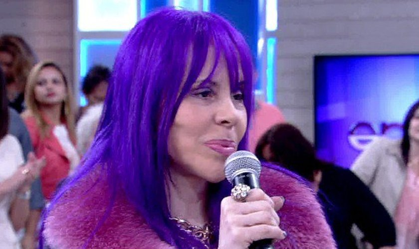 Baby do Brasil em participaçao no programa Encontro, com Fátima Bernardes, na Globo.