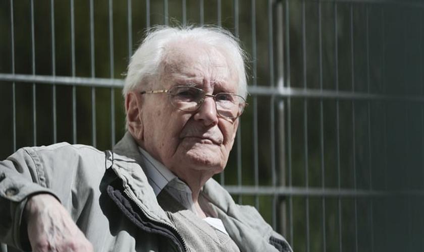 Oskar Gröning, ex-contador do antigo SS. (Markus Schreiber/AP)