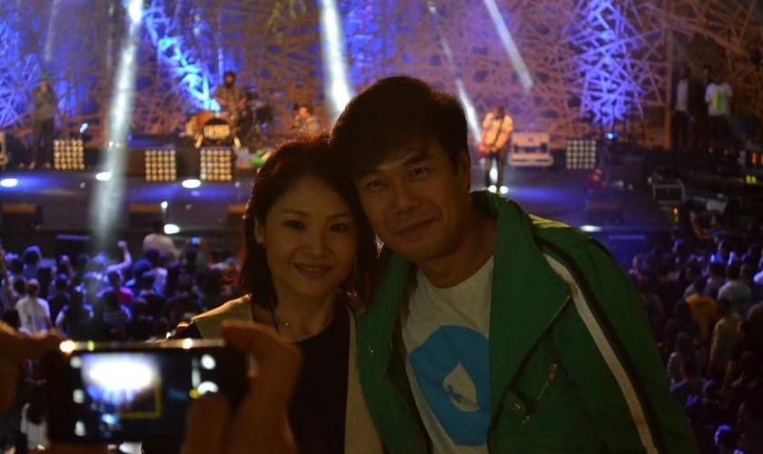 Juliano Son e a esposa Dani