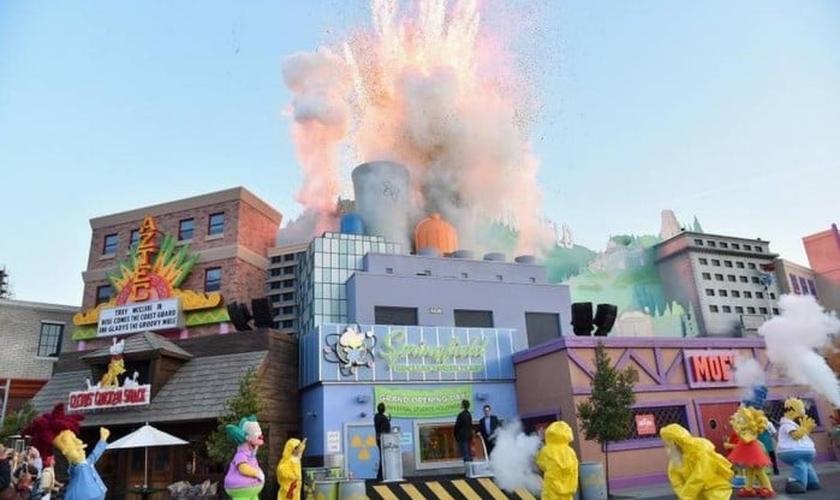 Cidade de 'Os Simpsons' nos estúdios da Universal, em Hollywood
