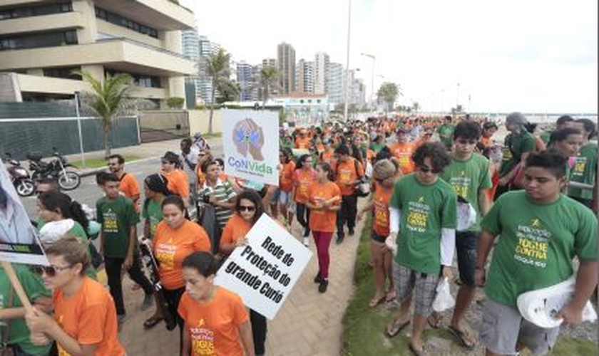 Caminha de evangélicos em Fortaleza